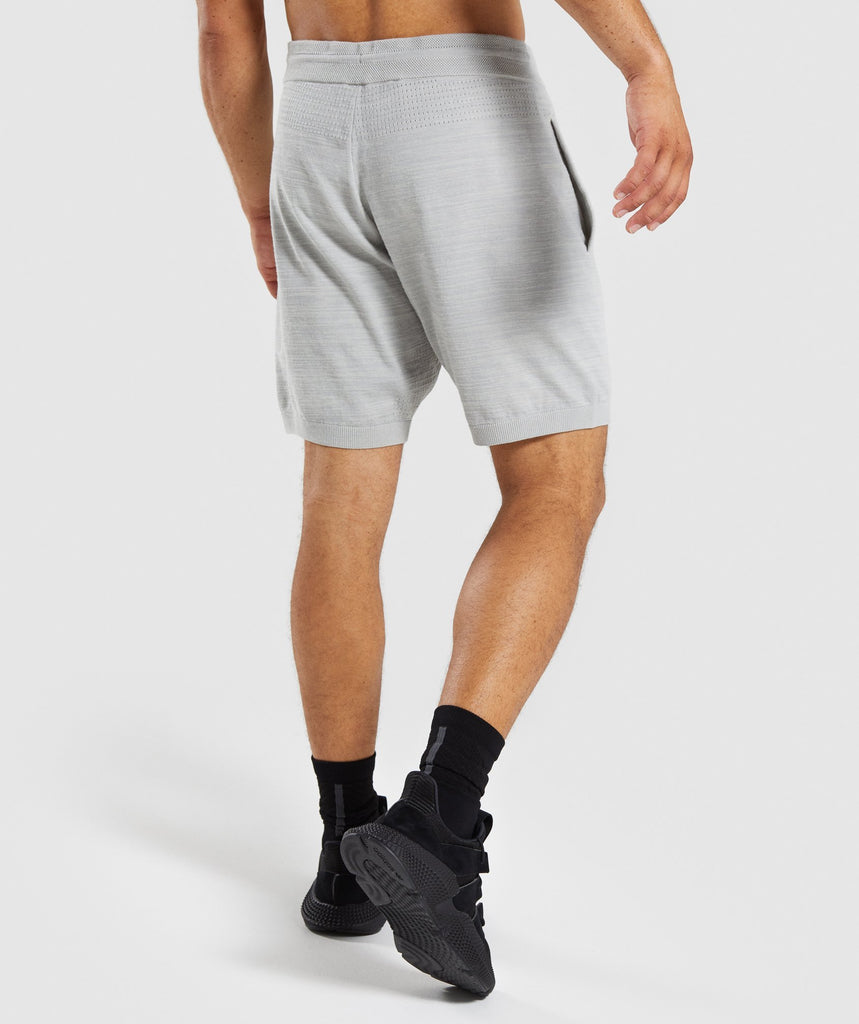 Gymshark Pinnacle Knit Shorts - Light Grey Marl 2