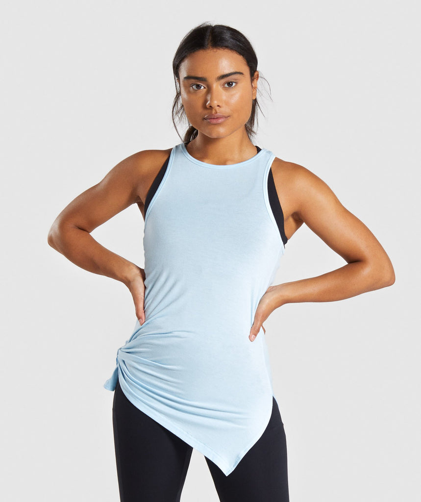 Gymshark Poise Longline Vest - Washed Blue 1