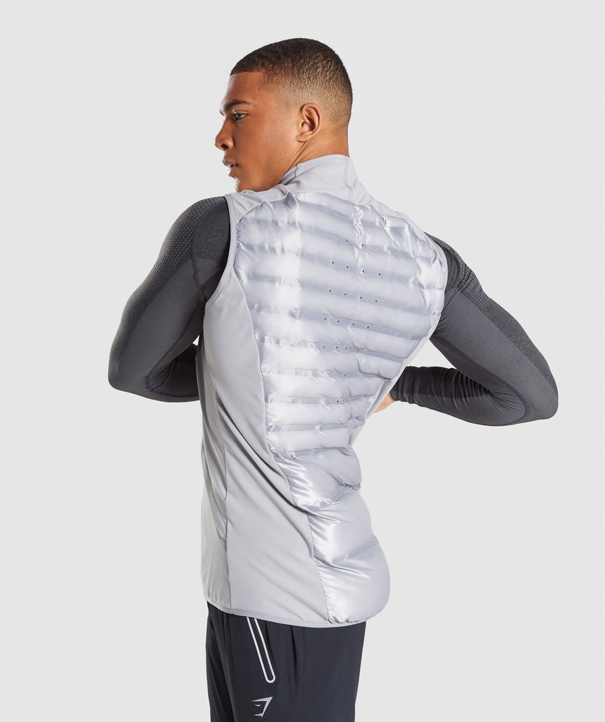 Gymshark Power Lightweight Gilet - Light Grey 2