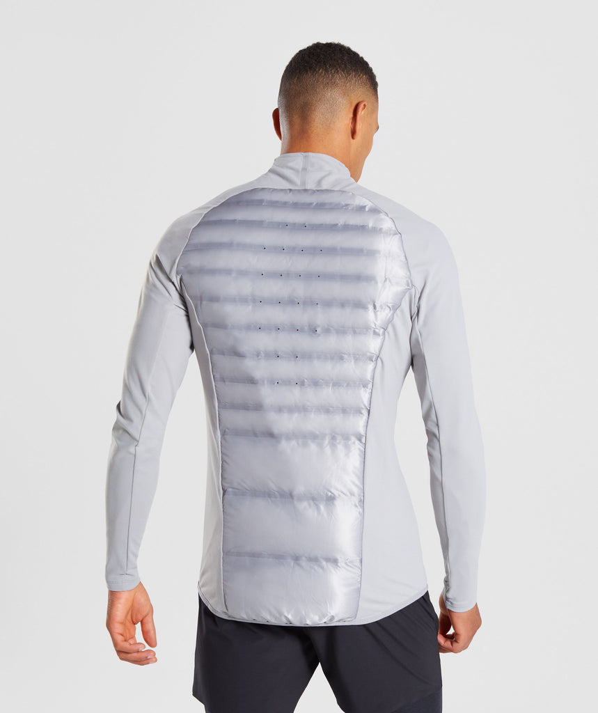 Gymshark Power Lightweight Jacket - Light Grey 2