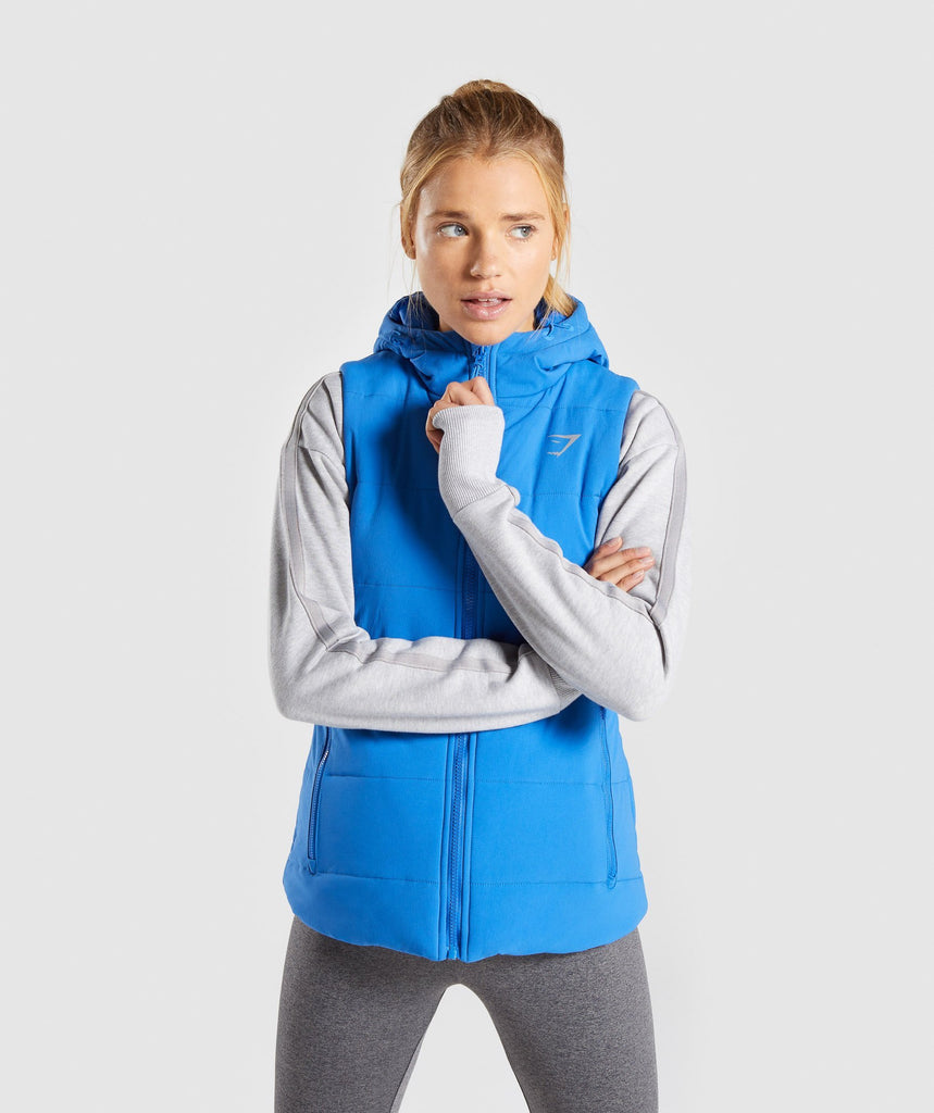 Gymshark Primary Puffer Gilet - Pop Blue 2