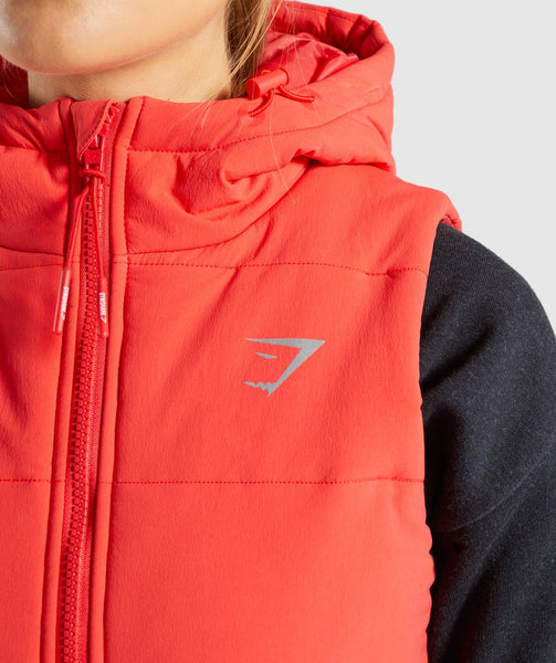 Gymshark Primary Puffer Gilet - Pop Red 3