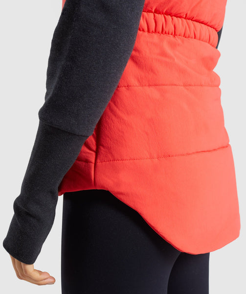 Gymshark Primary Puffer Gilet - Pop Red 4