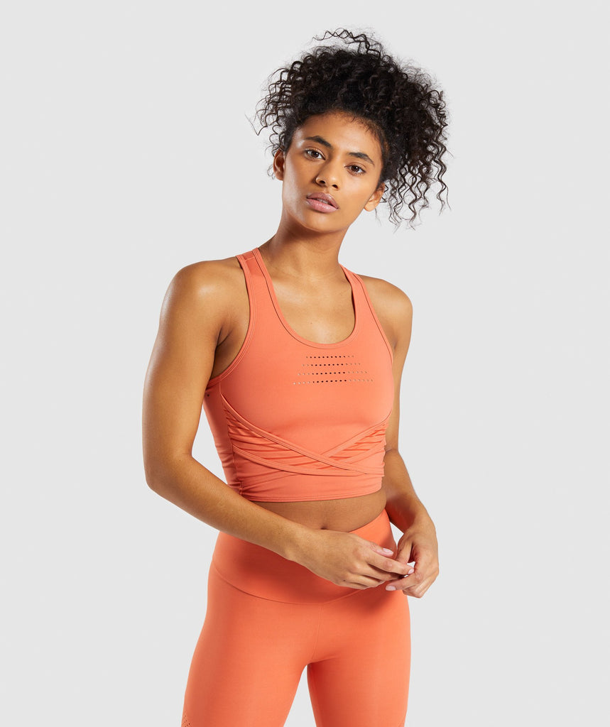 Gymshark Pro Perform Crop Top - Burnt Orange 1