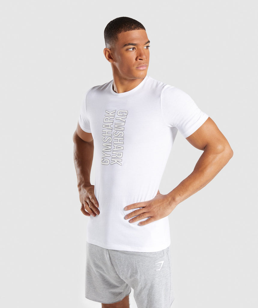 Gymshark Profile T-Shirt - White 1
