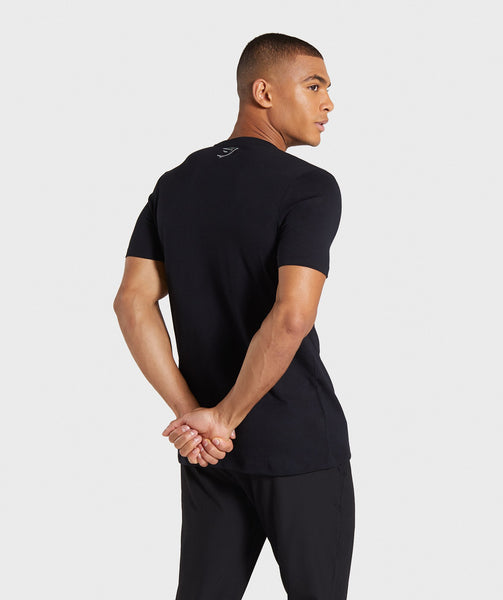 Gymshark Profile T-Shirt - Black 1