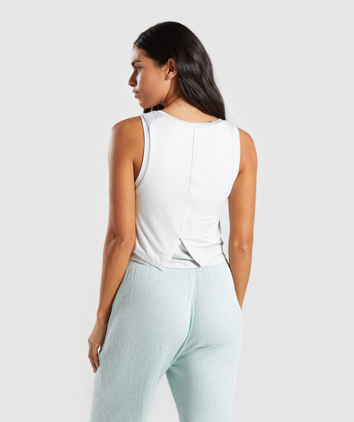 Gymshark Relaxed Crop Top - Light Grey 1