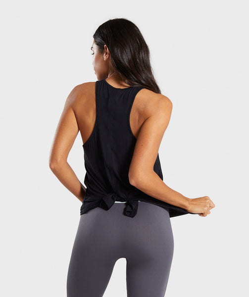 Gymshark Relaxed Graphic Vest - Black 1