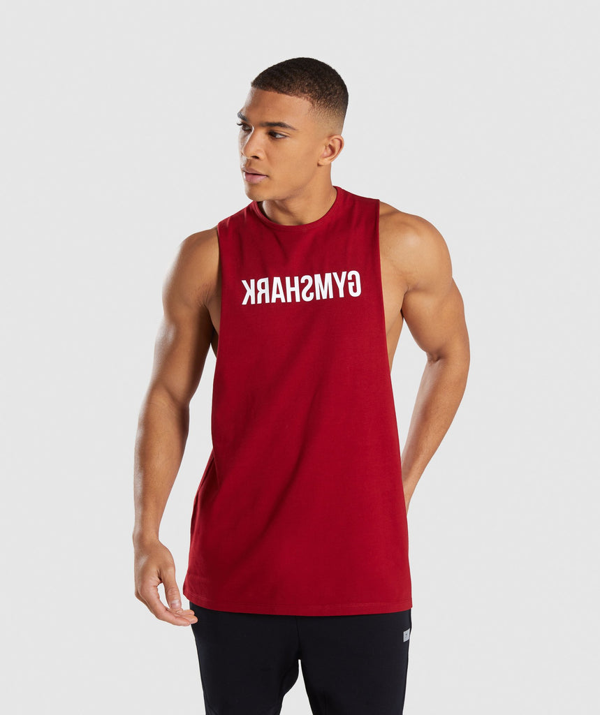 Gymshark Reverse Tank - Full Red 1