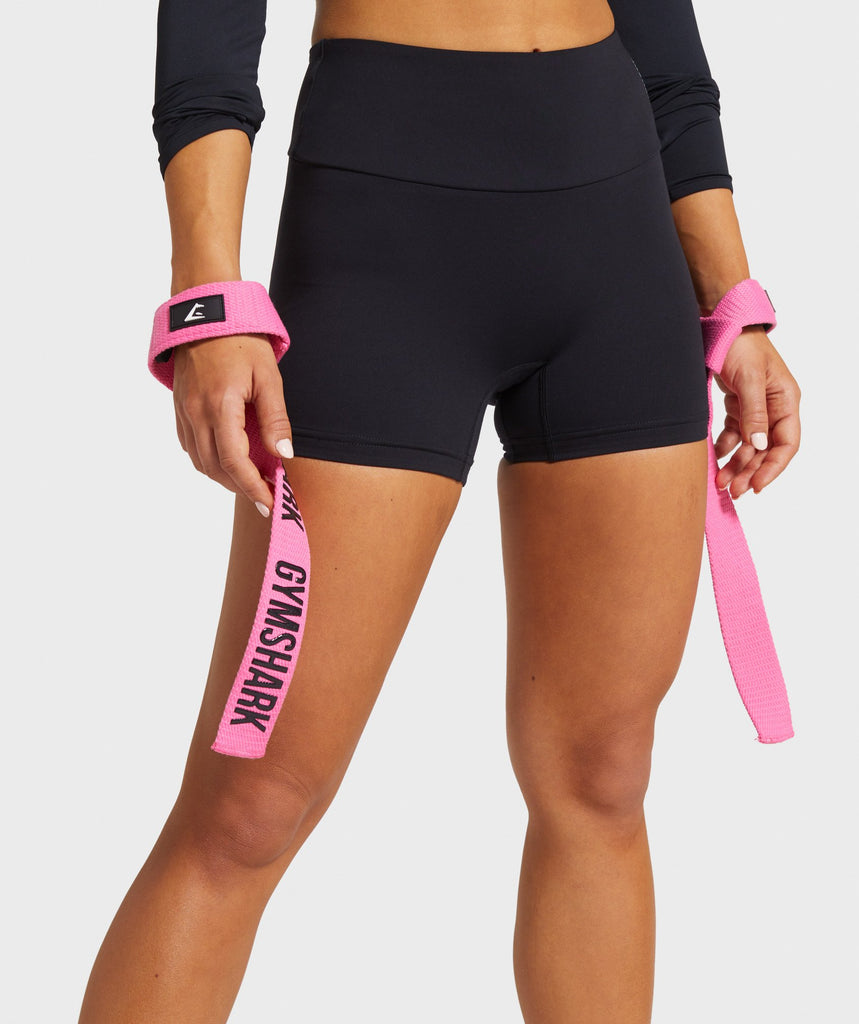 Gymshark Silicone Grip Lifting Straps - Pink 1