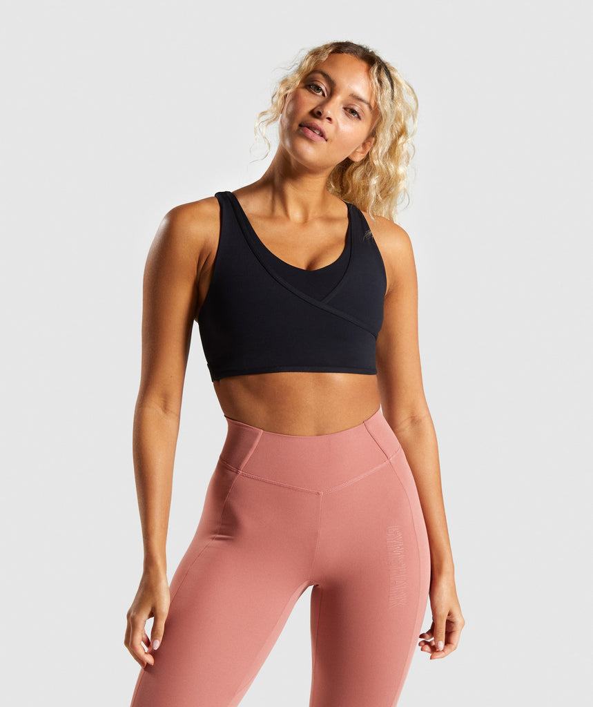 Gymshark Studio Sports Bra - Black 1