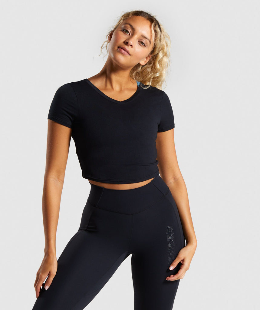 Gymshark Studio Crop Top - Black 1