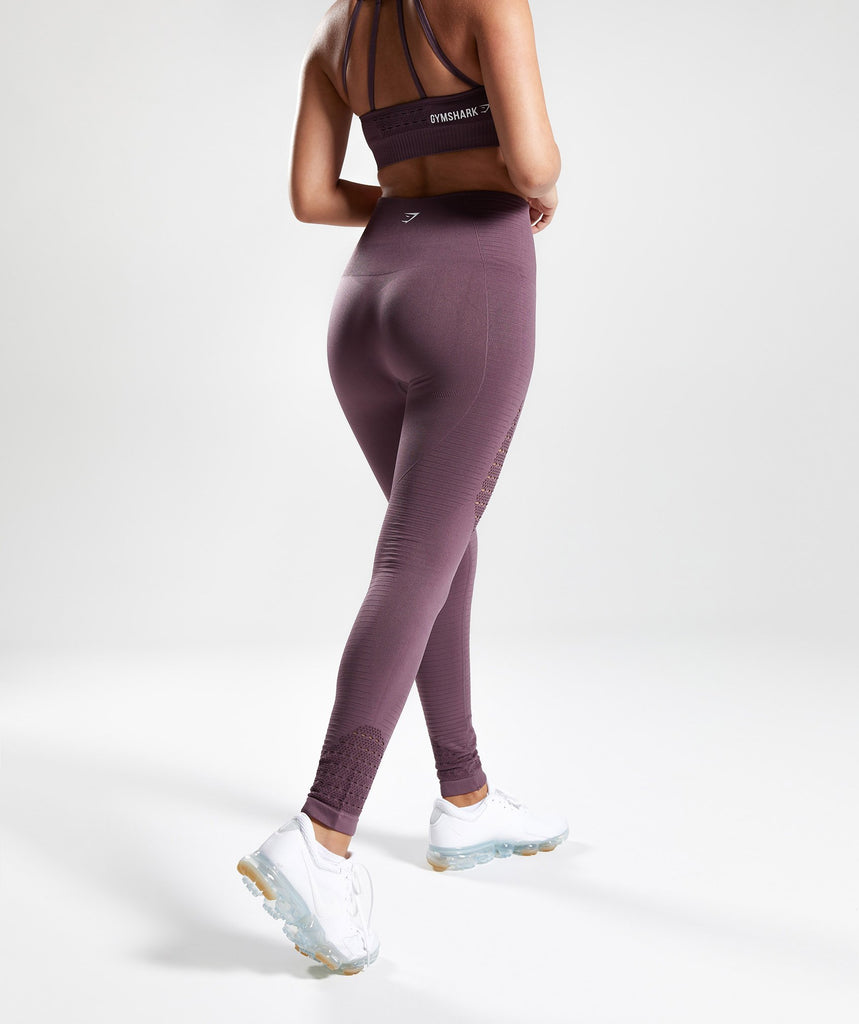Gymshark Energy Seamless High Waisted Leggings - Purple Wash 2