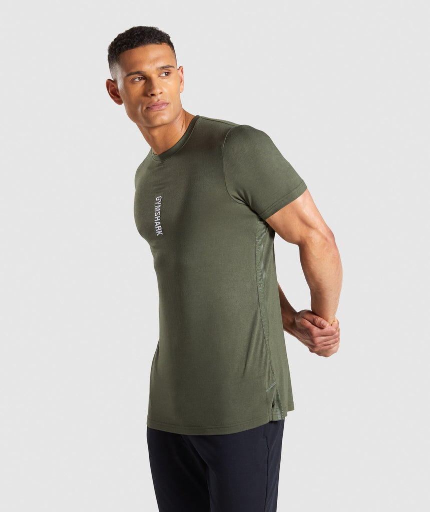 Gymshark Shadow T-Shirt - Dark Green 1