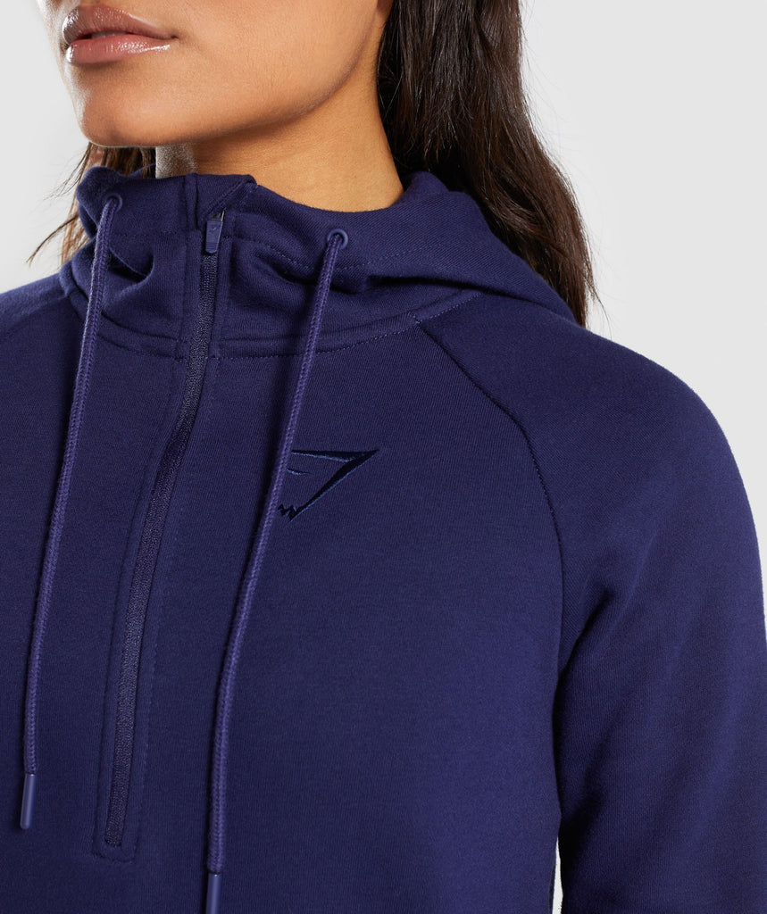 Gymshark Slim Fit Hooded Dress - Evening Navy Blue 5