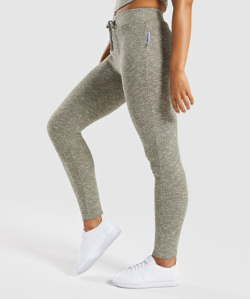 Gymshark Slounge Leggings - Washed Khaki Marl 2