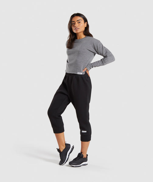 Gymshark Slounge Crescent Sweater - Charcoal Marl 3