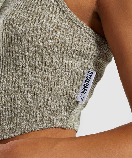 Gymshark Slounge Crop Top - Washed Khaki Marl 4