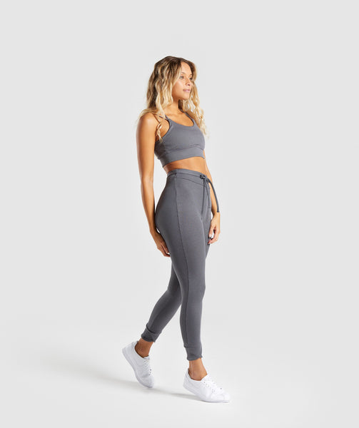 Gymshark Slounge Ribbon Bottoms - Charcoal Marl 3
