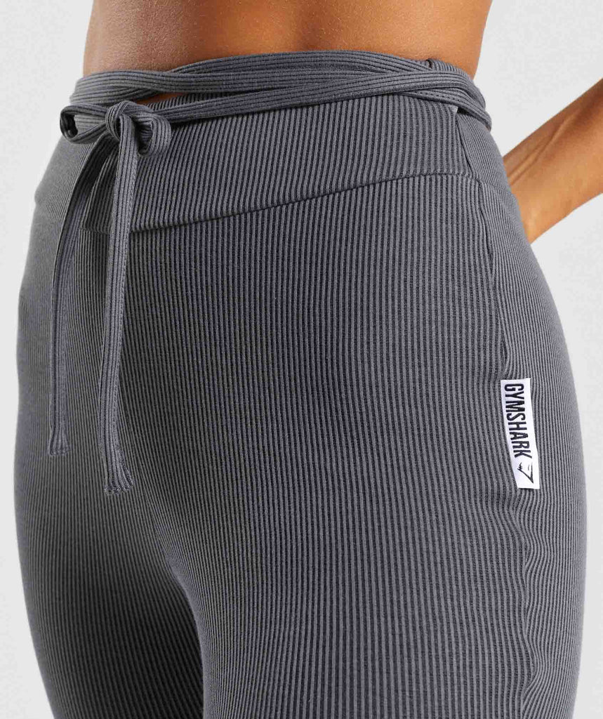 Gymshark Slounge Ribbon Bottoms - Charcoal Marl 5
