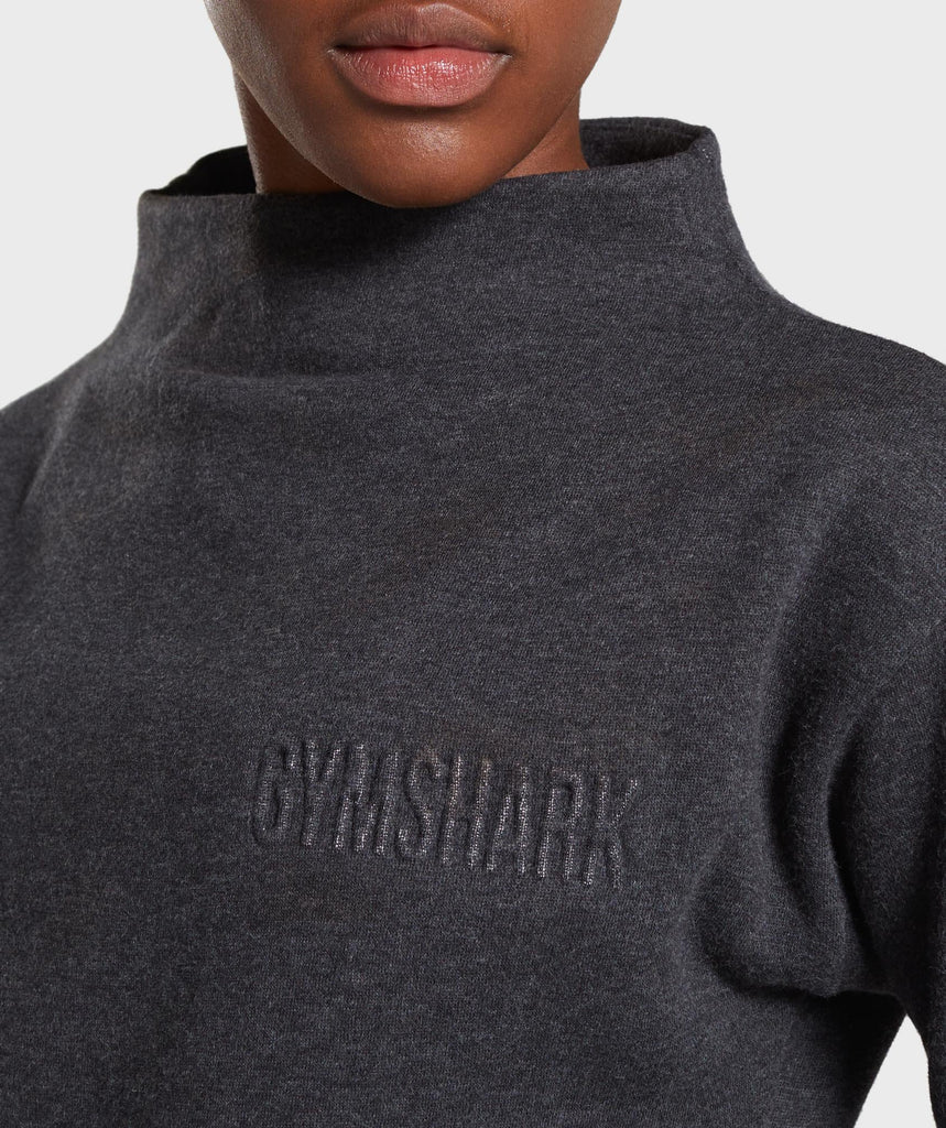 Gymshark So Soft Sweater - Black Marl 5