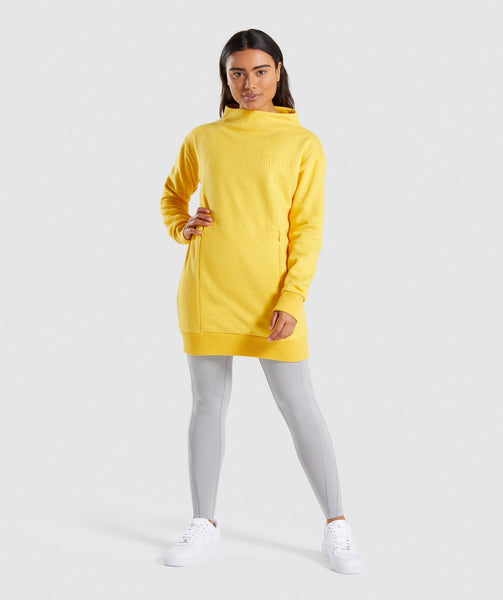 Gymshark So Soft Sweater - Citrus Yellow Marl 3