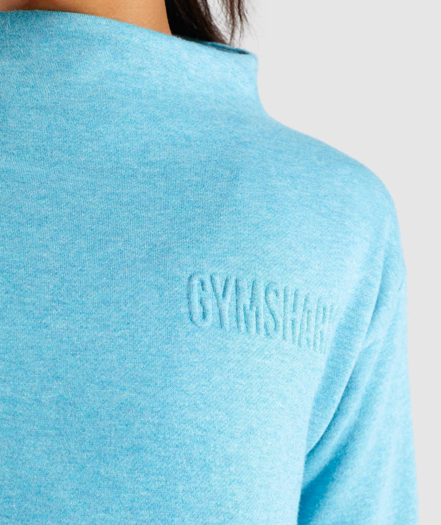 Gymshark So Soft Sweater - Dusky Teal Marl 5