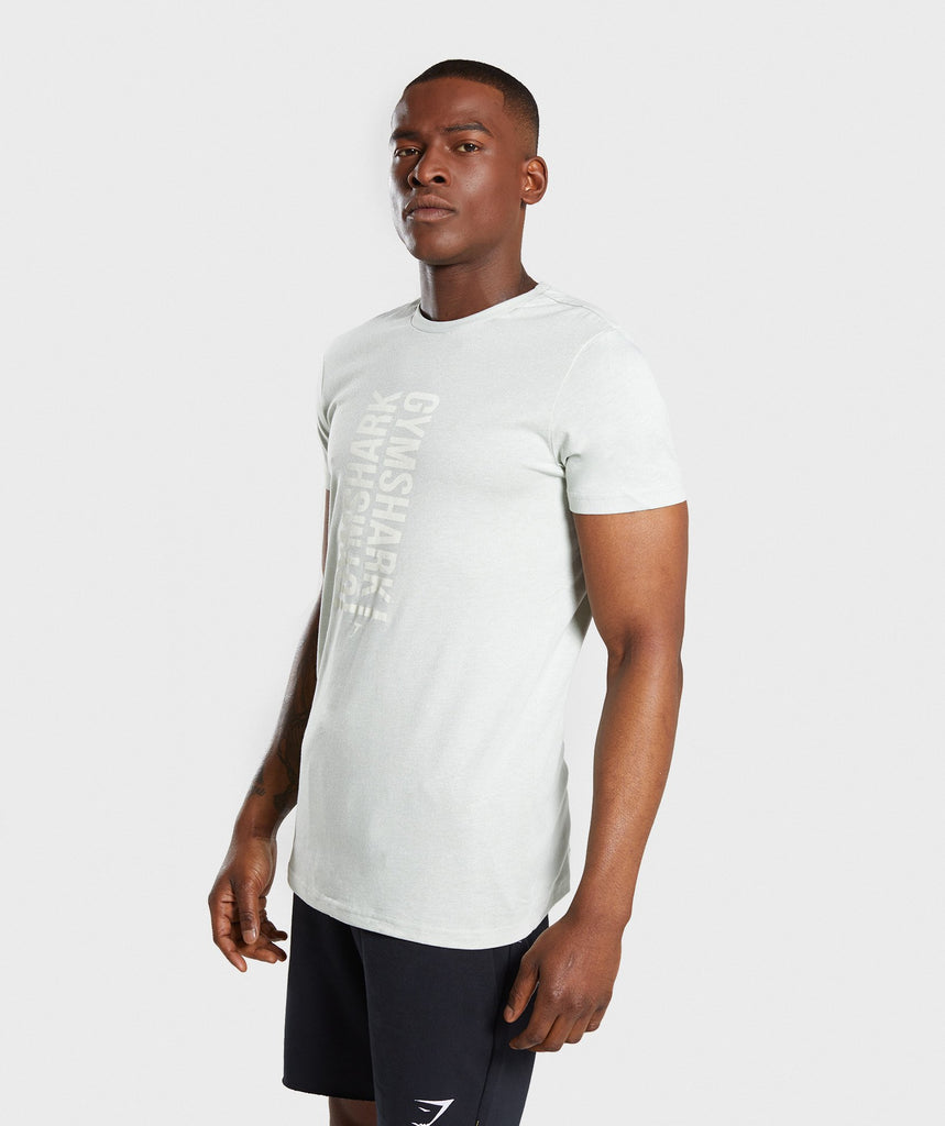 Gymshark Statement T-Shirt - Pastel Green Marl 1
