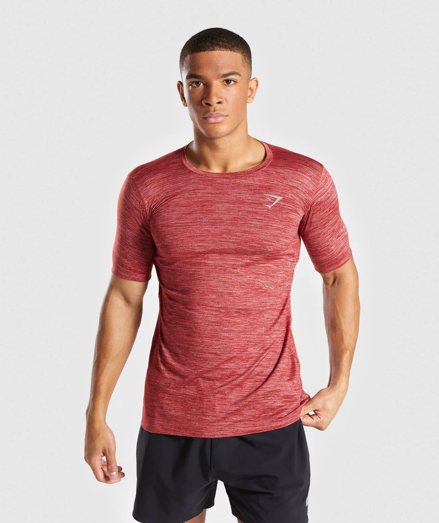 Gymshark Swerve T-Shirt - Full Red Marl 4