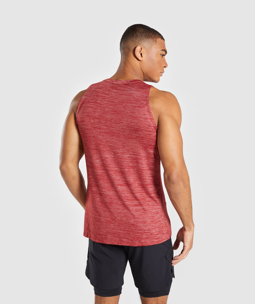 Gymshark Swerve Tank - Full Red Marl 2