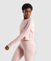 Gymshark Time Out Knit Sweater - Blush Nude 9