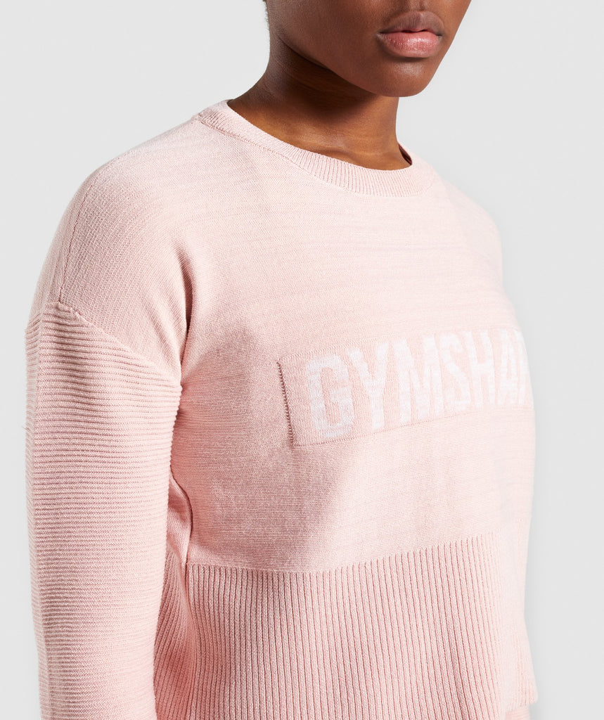 Gymshark Time Out Knit Sweater - Blush Nude 6