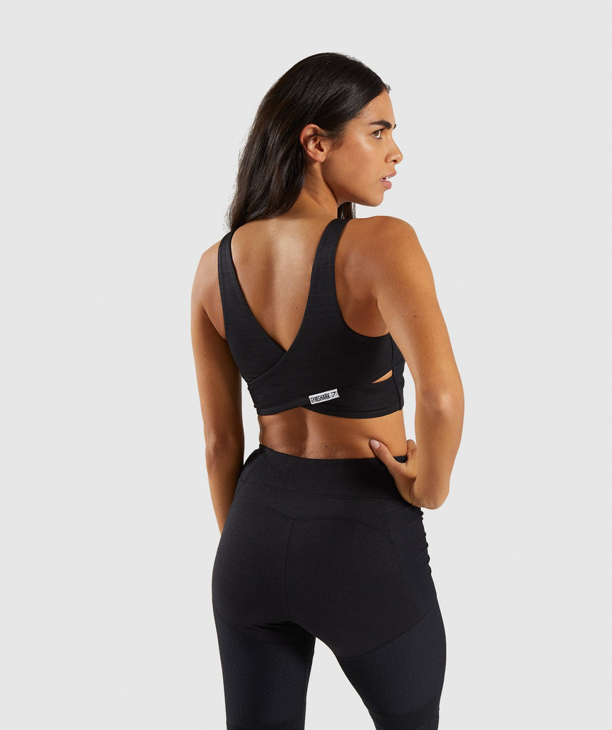 Gymshark True Texture Sports Bra - Black 1