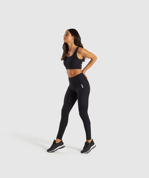 Gymshark True Texture Sports Bra - Black 3