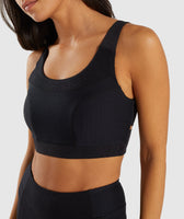 Gymshark True Texture Sports Bra - Black 11