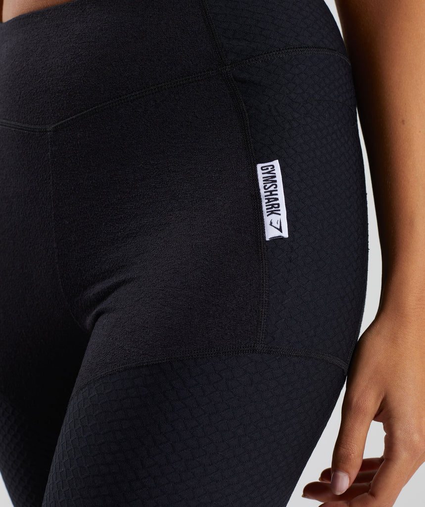 Gymshark True Texture Leggings - Black 5