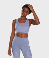 Gymshark True Texture Sports Bra - Steel Blue 7