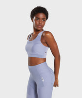 Gymshark True Texture Sports Bra - Steel Blue 9