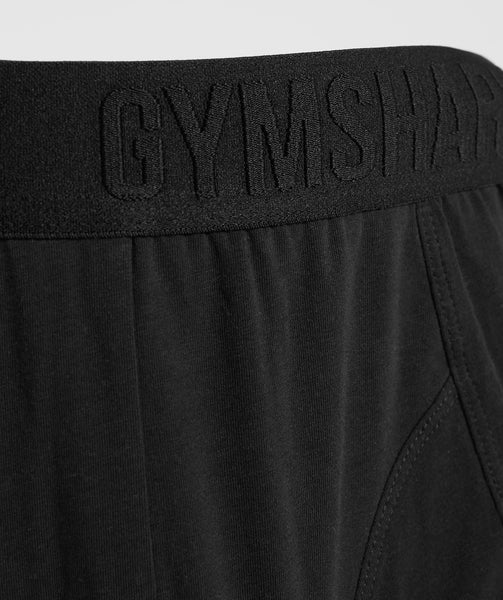 Gymshark Debossed Logo Trunks 2pk - Black 3