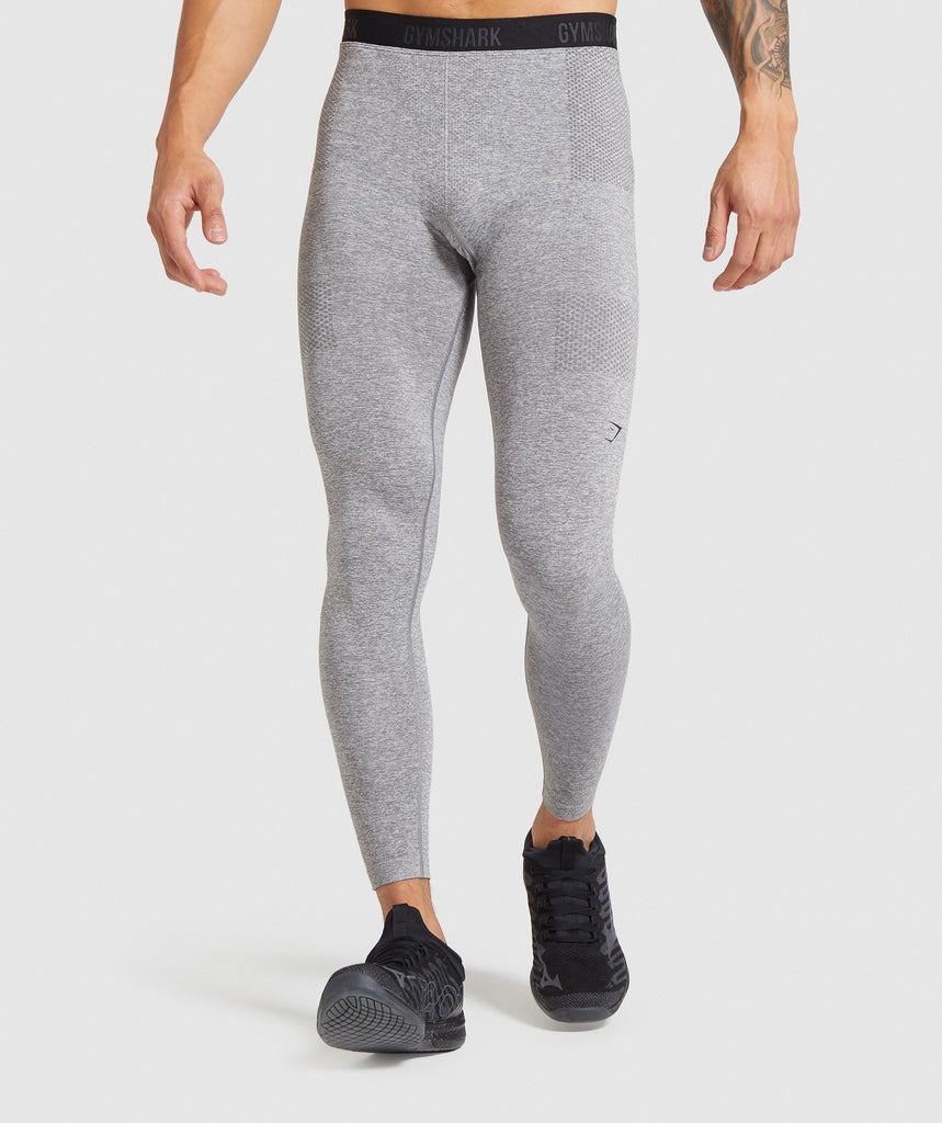 Gymshark Vital Seamless Leggings - Grey Marl 1