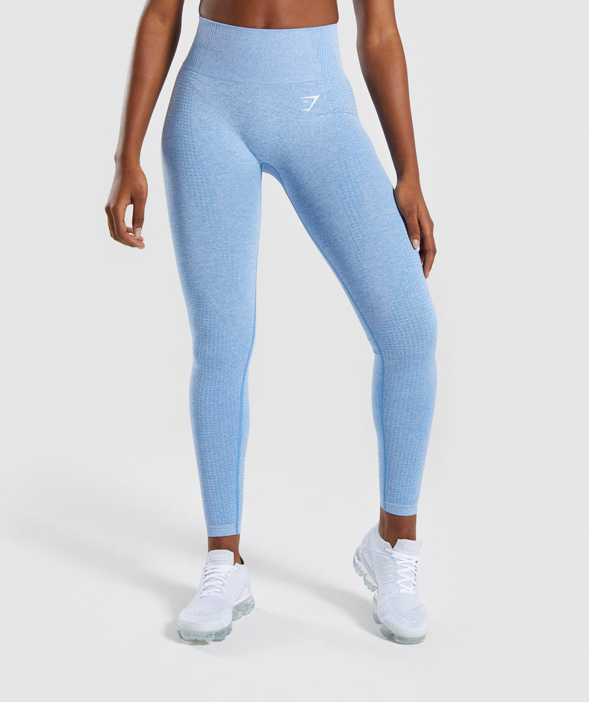 Gymshark Vital Seamless Leggings - Blue 1