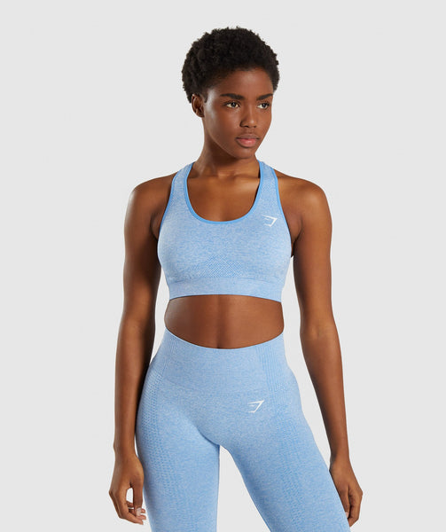 Gymshark Vital Seamless Sports Bra - Blue 4