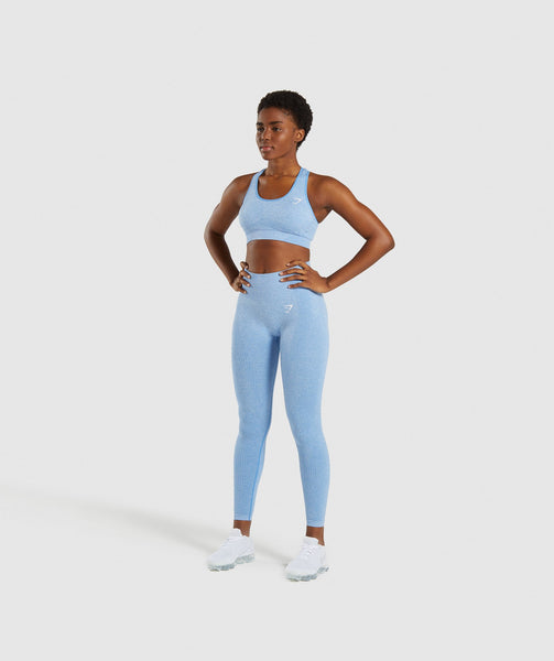 Gymshark Vital Seamless Sports Bra - Blue 3
