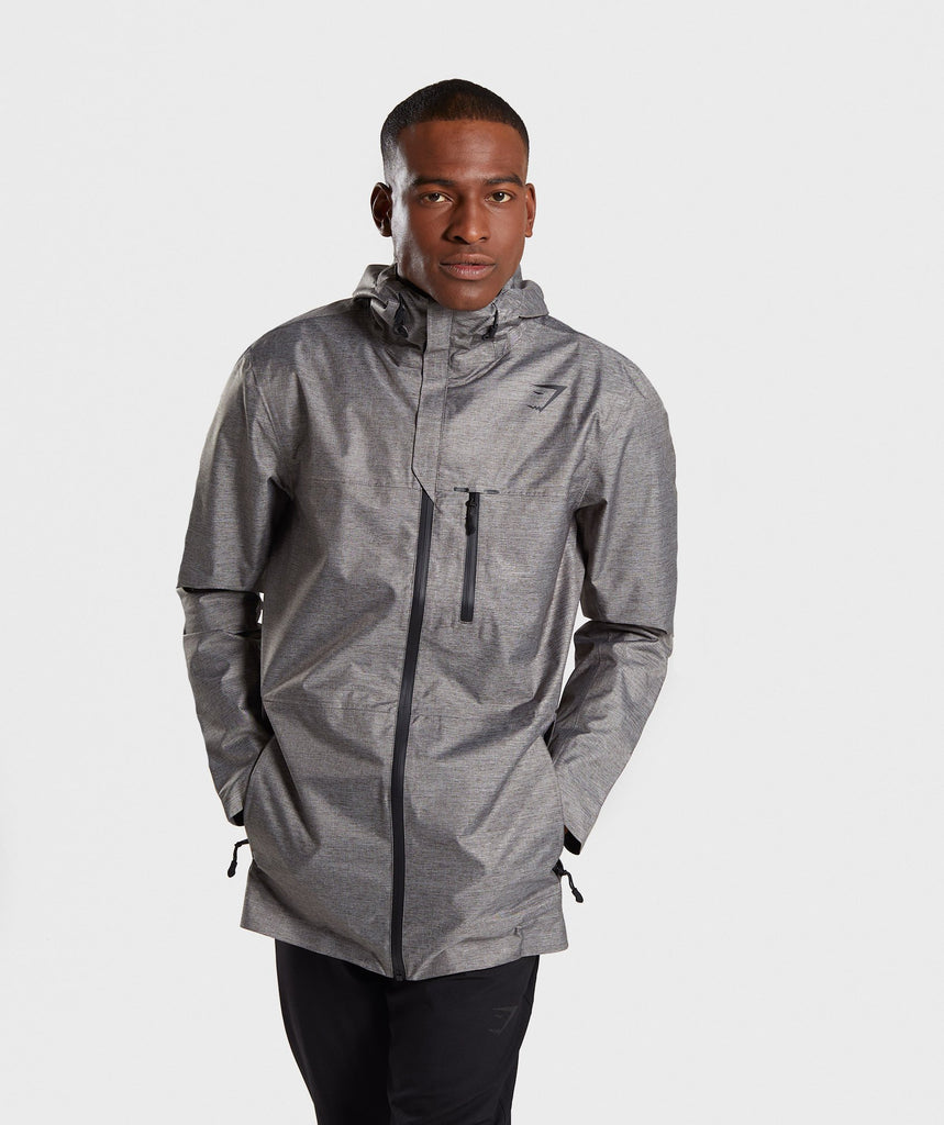 Gymshark Storm Waterproof Parka - Light Grey 1