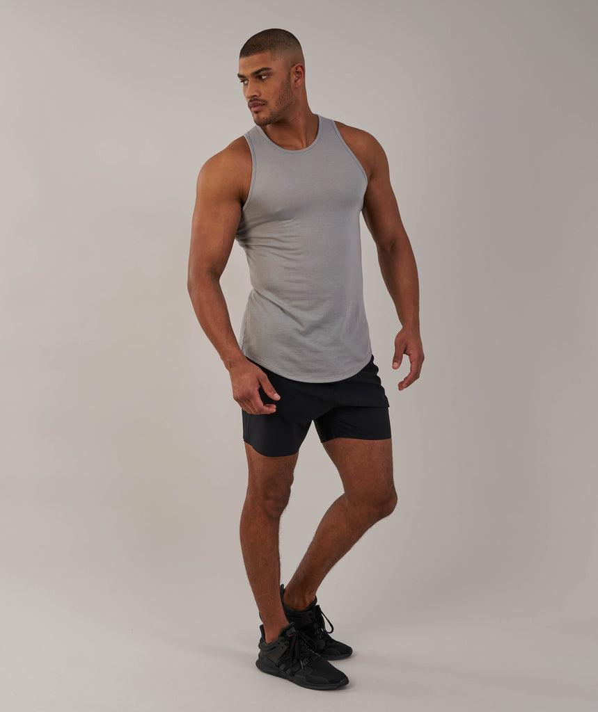 Perforated Longline Tank - Light Grey 1