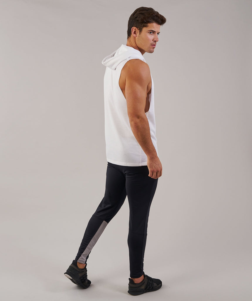 Gymshark Drop Arm Sleeveless Hoodie - White 2