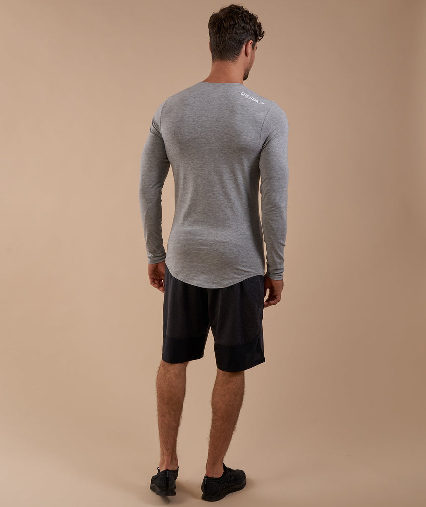 Gymshark Ark Long Sleeve T-Shirt - Light Grey Marl 2