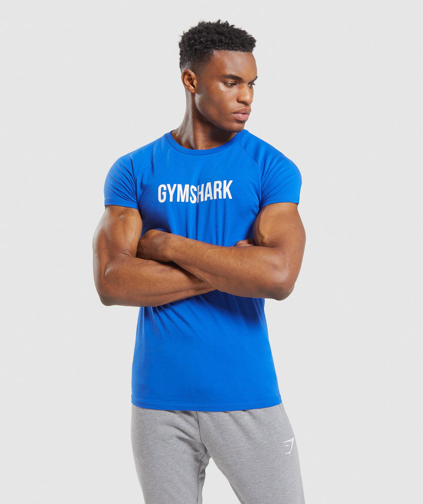 Gymshark Apollo T-Shirt - Blue 1
