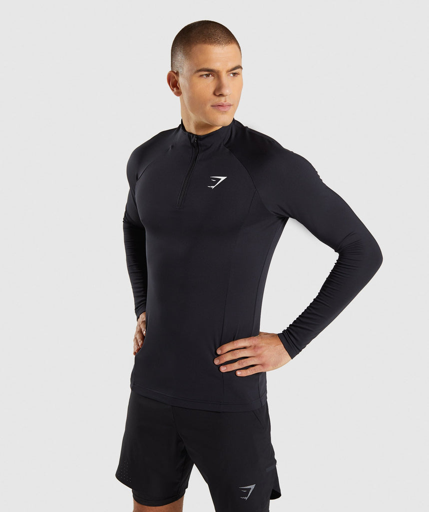 Gymshark Advanced 1/4 Zip Pullover - Black 1