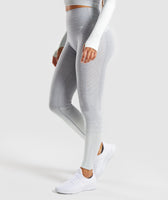 Gymshark Amplify Seamless Leggings - Light Grey Marl/Sea Foam Green 9
